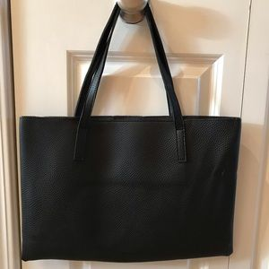 Vince Camuto black leather over the shoulder bag
